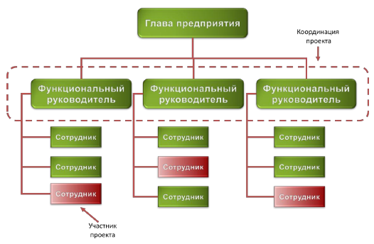 Организационная структура проектной организации.